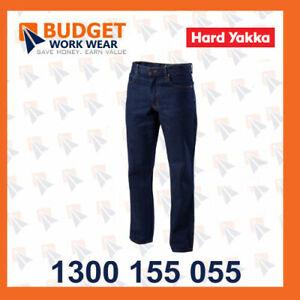 Hard Yakka 1/4 OZ Enzyme Washed Rigid Denim Jean (Y03514)