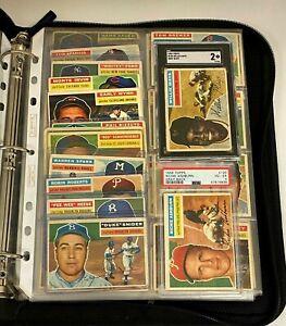 1956 Topps Partial Set Lot (234/342) w/ SGC Graded Willie Mays + PSA Ashburn