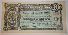 ARGENTINA  NOTE  SANTA FE $10 1890 P.s 2217  BAUMAN SFE-273  XF+