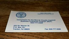 State Of New Jersey Department Human Service Blind Visually Impaired old Magnet
