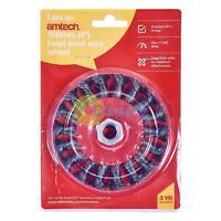 "Twist 4"" 100mm Knot Wire Wheel M14 Cup Brush Amtech"