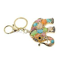 1x Crystal Colorful Cat' Eye Elephant Charm Keyring Keychain Christmas Gifts