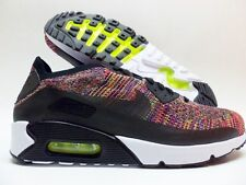 best sneakers dab57 db023 NIKE AIR MAX 90 ULTRA 2.0 FLYKNIT BLACK MULTI-COLOR SIZE MEN S 10.5