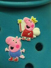 Peppa Pig & George Shoe Charms For Crocs & Jibbitz Wristbands. Free UK P&P.