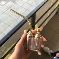 Portable Hookah Shisha Bottle Pipe Mini Smoking Tobacco Copper Bubbler Tool New