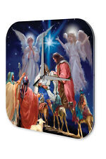 Horloge Nostalgique Décoration Noël  Ange Maria Jesus Acrylglas