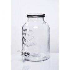 2 Gallon Glass Beverage Dispenser Kitchen Home Mason Jar Drinks Water Container
