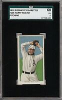 Rare 1909-11 T206 Harry Krause Pitching Piedmont 350 Phila SGC 60 / 5 EX