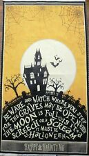 HALLOWEEN FABRIC PANEL COME SIT A SPELL WILMINGTON PRINTS HAPPY HAUNTING  NEW