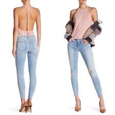Lovers + Friends Ricky Distressed Skinny Pale Blue Jean in Mayfair $208 27