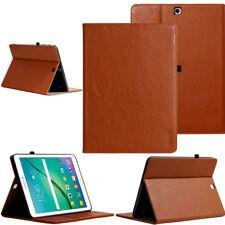 "LUXURY Custodia Protettiva Samsung Galaxy Tab s2 8,0"" TABLET CUSTODIA COVER CASE MARRONE"