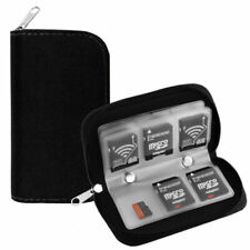 King of Flash - 8 Pages and 22 Slots Memory Card Carrying Case Holder Pouch #4b6