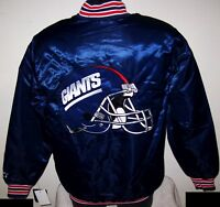 NEW YORK GIANTS Starter Throwback Style NFL Jacket BLUE   S M L XL 2X