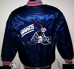 NEW YORK GIANTS Starter Throwback Style NFL Jacket BLUE   S M L XL 2X