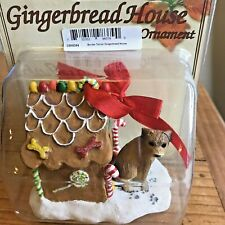 Border Terrier Christmas Ornament Gingerbread Doghouse Ornament Brown Dog New