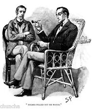 1800-1899 Vintage artwork Sherlock Holmes drawn by Sidney Paget