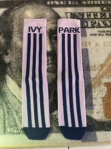 Adidas x Ivy Park Rodeo Ribbed Marble Crew Socks Size Large NWT