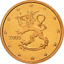 [#462888] Finlande, 2 Euro Cent, 2005, FDC, Copper Plated Steel, KM:99