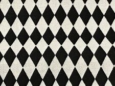 Fabric Diamonds Black & White Damask on Cotton by the 1/4 yard BIN
