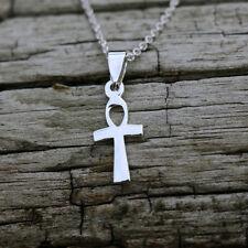 """Ankh Necklace Sterling Silver New Jewelry Cross Pendant Free Post 18"""" Chain"""