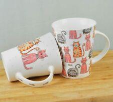 2 Stück Kaffee Tee Becher Büro Tasse 10 cm KATZEN Porzellan Spülmaschinenfest