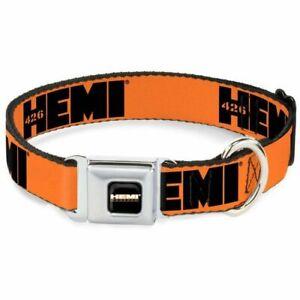 Buckle-Down Hemi 426 Logo Orange Large Seatbelt Buckle Dog Collar - DC-WHE009-WL