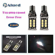 2x T15 W16W 15 SMD 2835 Error Free LED Car Reverse Back Light Bulbs 6000K White