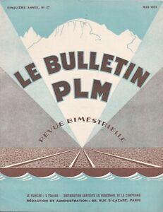 revue bulletin PLM n°27 /  MAI 1933
