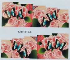 Nagelsticker Tattoo Schmetterling Blüten Rosen Blumen Flower Nail Sticker Wraps