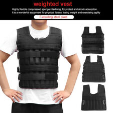 US Weighed Weight Vest Max Loading 5-35kg Strength Training Exercise Waistcoat