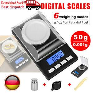 Digitale Milligrammwaage 50g/0,001g, tragbare elektronische Waage, Schmuckwaage.