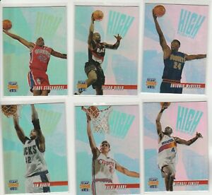 90'S INSERTS LOT (6/15) 1996-97 STADIUM CLUB HIGH RISERS MEMBERS ONLY STACKHOUSE