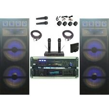 NEW Karaoke System RSQ Bluetooth Wireless Mics Machine 3000 WATTS