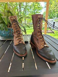 Chippewa Apache Packer Boots 29408 Brown Black Size 8.5D USA