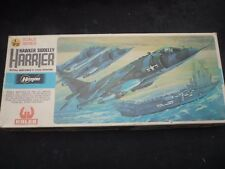 A Hasegawa un built plastic kit of a Hawker Siddeley Harrier GR-1, Boxed