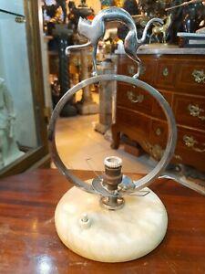 Vintage Rare Hagenauer style bronze lamp Art deco of a cat