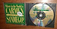 Where in the World is Carmen Sandiego DELUXE (CD-ROM, 1993, BRODERBUND)