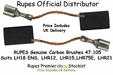 RUPES Genuine Carbon Brushes 47.105, Suits LH18 ENS, LHR12, LHR15,LHR75E, LHR21