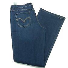 Levi's Womens Juniors 515 Bootcut Denim Blue Jeans Pants Lightwash 14M