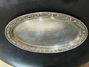"Gorham Sterling 925 Engraved Oval Strasbourg Plate  158Grams 8 3/4"""