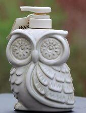 BATH & BODY WORKS Owl Soap Lotion Pump Dispenser Holder Cream Ceramic HALLOWEEN