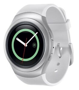 Samsung Gear S2 Smartwatch, AT&T, Silver with White Band SM-R730A