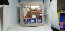 Maytex Conrad 2-Piece Chair Furniture Cover / Slipcover, Sand