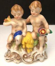 Occupied Japan Vintage porcelain Figurine pair of nudes on base