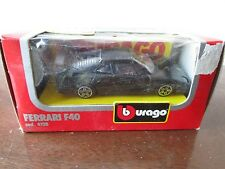 B BURAGO 1/43 FERRARI F40 BLACK 4128 NEW IN BOX