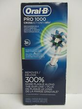 ORAL-B BRAUN PRO 1000 CROSS ACTION 3D ACTION RECHARGEABLE TOOTHBRUSH NT 1999