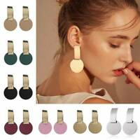 Geometric Boho Round Circle Dangle Drop Ear Stud Earrings Jewelry Christmas Gift