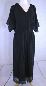 Women's size 18-20 black lace trimmed pants jumpsuit made by Crossroads