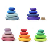 Colored Wooden Stacking Balancing Stone Building Block Game Baby Educational Toy