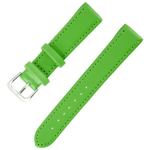 1x Green Color Mens Ladies High Quality Soft Leather Watch Slim Band Strap 18mm